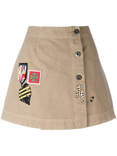 patches buttoned denim skirt Mr & Mrs Italy