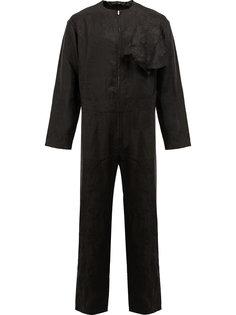 collarless zipped jumpsuit Aganovich