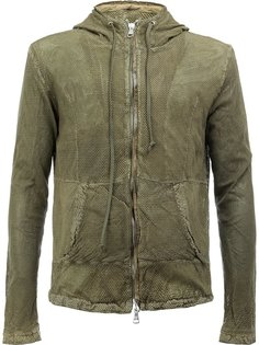 hooded leather jacket Giorgio Brato