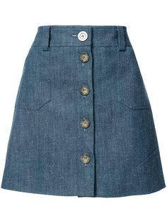 short a-line skirt  Ines De La Fressange