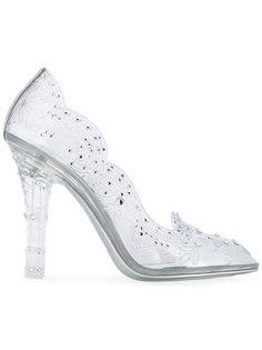декорированные туфли с цветочными элементами Dolce & Gabbana