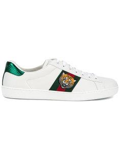 кеды с вышивкой тигра Gucci
