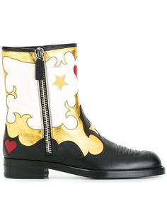 ботинки на молнии с принтом звезд Gucci