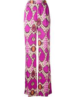 брюки палаццо с геометрическим узором Etro