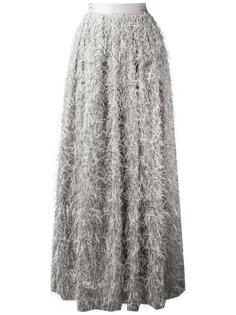 длинная юбка с фактурной отделкой Brunello Cucinelli