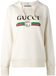 Fake Gucci embroidered hoodie Gucci