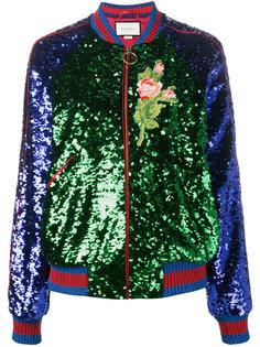 куртка бомбер с пайетками Gucci