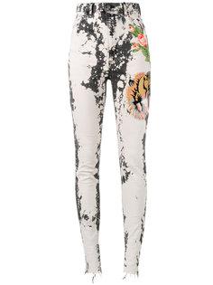 джинсы кроя скинни с вышивкой Gucci