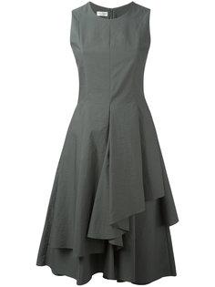 расклешенное платье с драпировками Brunello Cucinelli