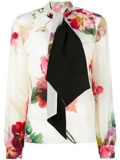 блузка с цветочным принтом   Lanvin