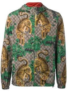 куртка с принтом Бенгальских тигров Gucci