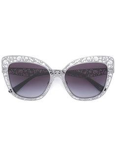 солнцезащитные очки в кружевной оправе Dolce & Gabbana