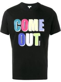 """футболка """"Come Out"""" Kenzo"""