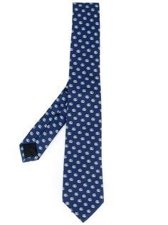 галстук с узором логотипа Gucci