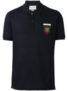 футболка-поло с нашивкой эмблемы Gucci