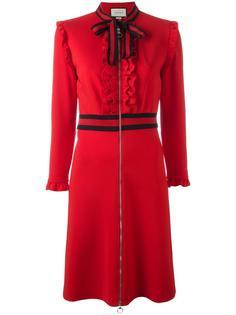 платье джерси с бантом Gucci