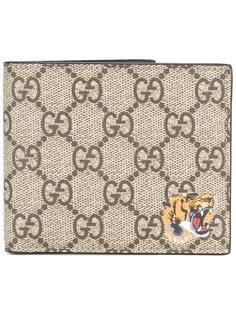 кошелек с тигром GG Supreme Gucci