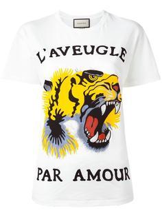 футболка с принтом тигра Gucci