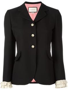 пиджак с рюшами Gucci
