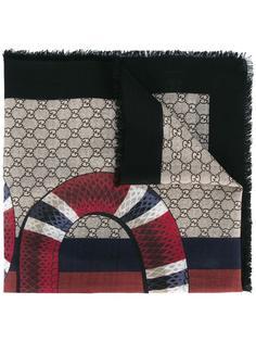 шарф с принтом GG  Gucci