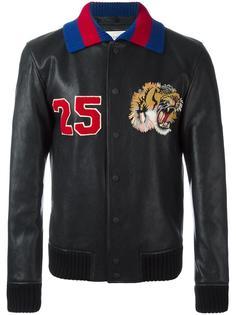 куртка-бомбер с вышитым тигром Gucci