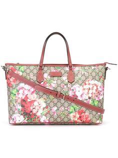 сумка-тоут с цветочным принтом Gucci