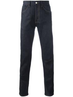 узкие джинсы с вышивкой тигра Gucci