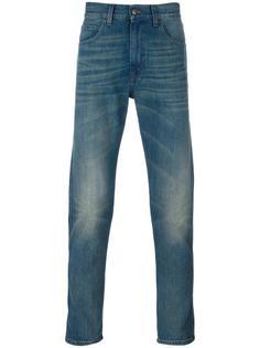 зауженные джинсы с тигром Gucci