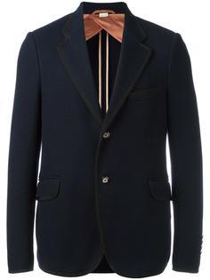 фактурный пиджак с застежкой на две пуговицы Gucci