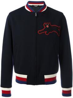 куртка-бомбер с аппликацией в виде пантеры Gucci