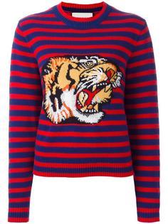 джемпер с принтом бенгальского тигра Gucci