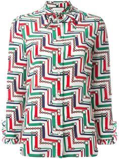 блузка с графическим узором Gucci