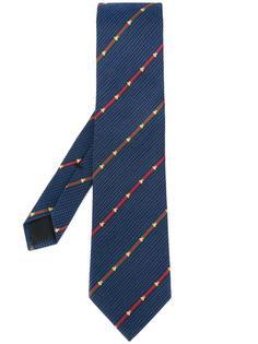галстук с вышитыми пчелами Gucci