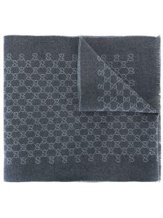 шарф с жаккардовым узором GG Gucci