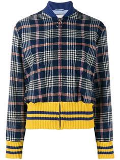 твидовая куртка-бомбер с вышитой спиной Gucci