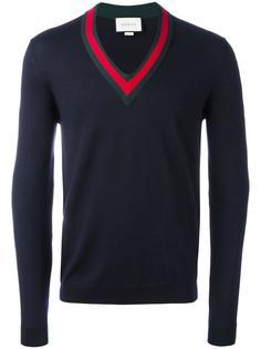 свитер с контрастной оторочкой Gucci