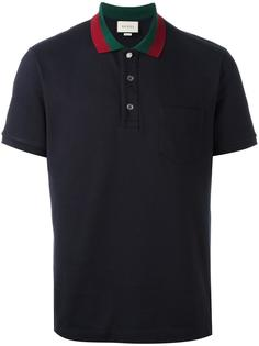 рубашка поло с полосками на воротнике Gucci