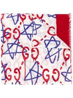 платок с узором-логотипом Gucci