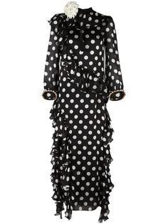 платье в горошек  Gucci