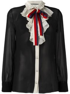 рубашка с бантом  Gucci