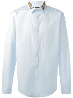 рубашка с вышитым тигром на воротнике Gucci