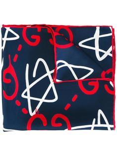 карманный платок с принтом логотипа Gucci