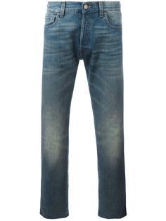 укороченные джинсы с заплаткой-тигром Gucci