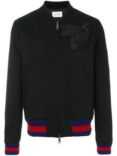 куртка с вышитой пчелой Gucci