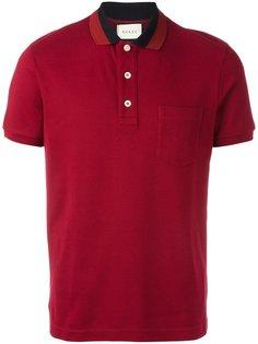 рубашка-поло с воротником Web Gucci