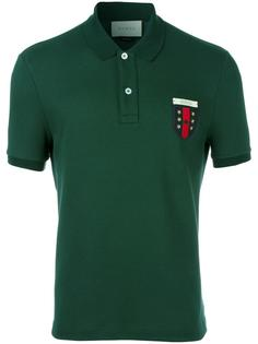 рубашка поло с вышитым логотипом Web Gucci