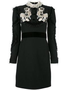 платье с аппликацией собак Gucci