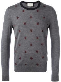свитер с принтом пчел Gucci