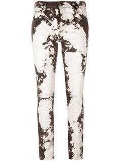 джинсы скинни с линялым эффектом Gucci