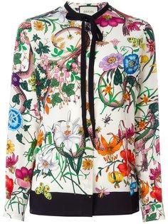 блузка с цветочным принтом Gucci